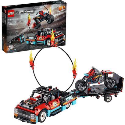 lego-technic-espectaculo-acrobatico-camion-y-moto-42106
