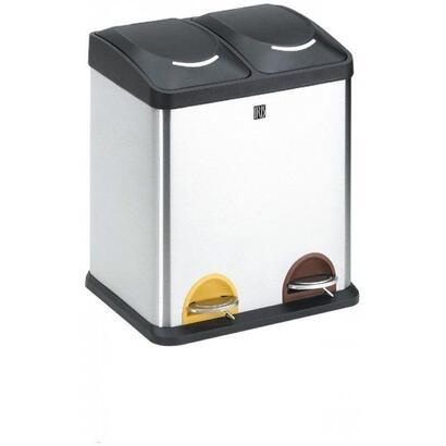 cubo-con-pedal-iris-2398-i-2-compartimentos-30l-inoxidable