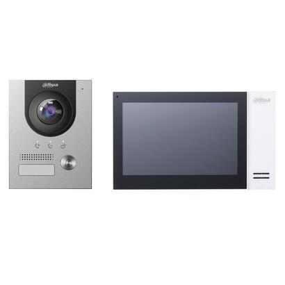 kit-videoportero-ip-dahua-exterior-con-caja-de-empotrar-monitor-interior