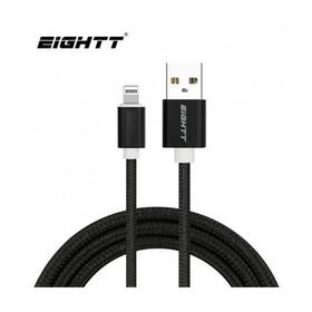 eightt-cable-usb-a-lightningiphone-1m-trenzado-nylon-negro