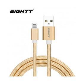 eightt-cable-usb-a-lightningiphone-1m-trenzado-nylon-oro