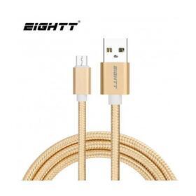 eightt-cable-usb-a-micro-usb-1m-trenzado-nylon-oro