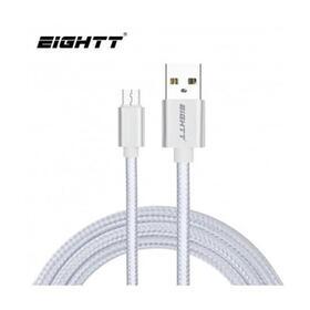 eightt-cable-usb-a-micro-usb-1m-trenzado-nylon-plata