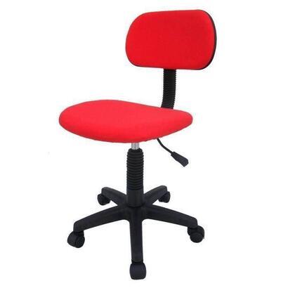 sillon-de-oficina-lampa-altura-ajustable-71-83-cm-tela-roja