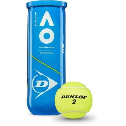 dunlop-pelotas-de-tenis-abiertas-de-australia-tubo-de-3-pelotas