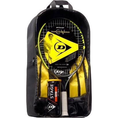 dunlop-junior-cv-team-23-kit-de-tenis-raqueta-mochila-pelotas