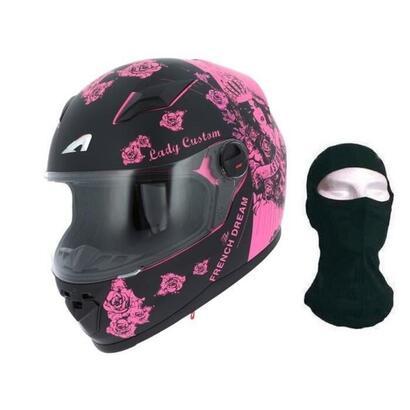 casco-integral-personalizado-astone-gt-lady-negro-y-fucsia-capucha-talla-s-55-56-cm