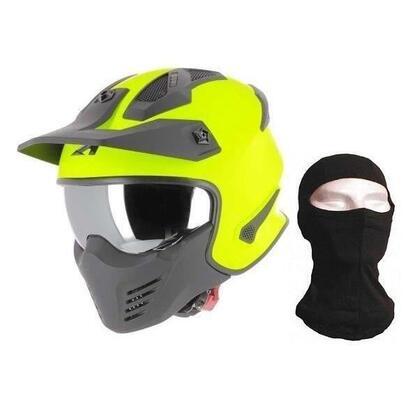 astone-elektron-neon-integral-motocicleta-casco-capucha-amarillo-mate-talla-s-55-56-cm