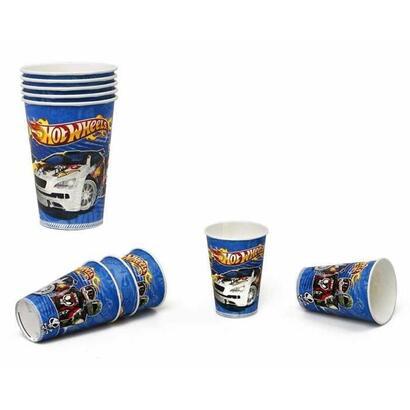 atosa-pack-de-5-vasos-hot-wheels-print-nino-180200-ml