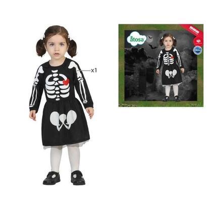 disfraz-de-esqueleto-atosa-nina-negro-talla-24-mois