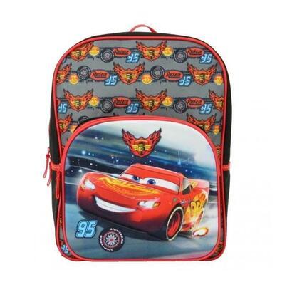coches-mochila-primaria-para-ninos-30x12x41-negro-rojo