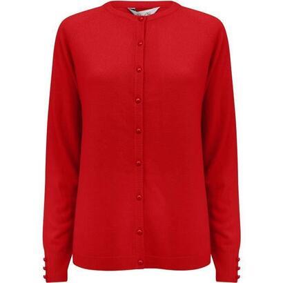plum-tree-cardigan-button-cuello-redondo-liso-rojo-mujer-talla-s