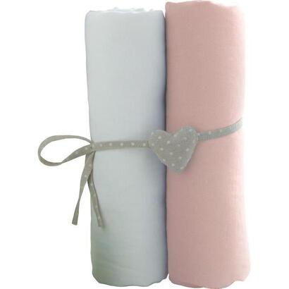 babycalin-2-sabanas-baby-cover-blanco-rosa-70-x-140-cm-jersey-130gr-m
