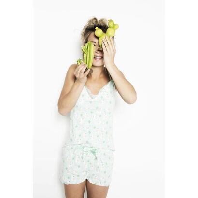 charlie-choe-shortama-alpaca-print-lace-menthol-green-mujer-talla-l