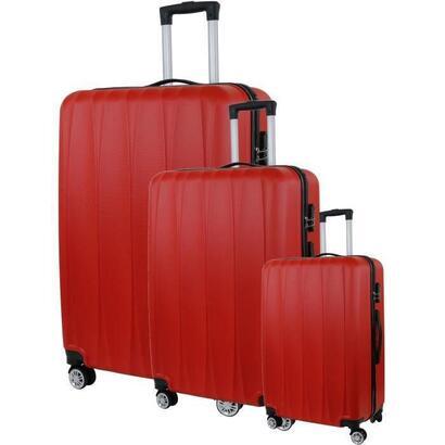 city-bag-03-juego-de-3-maletas-trolley-rigidas-abs-8-ruedas-50-60-70-cm-rojo