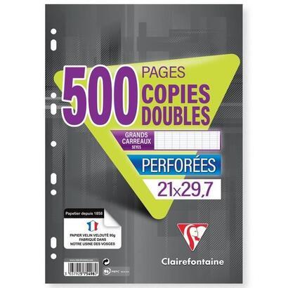 clairefontaine-copias-dobles-blancas-perforado-21-x-297-500-paginas-seyes-papel-pefc-90g