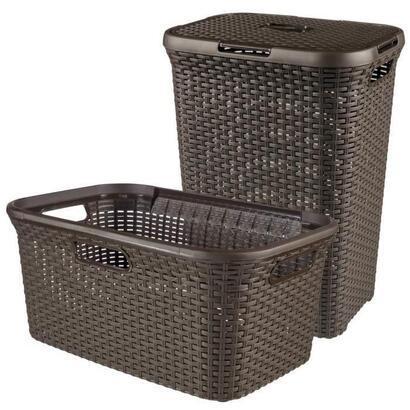 curver-caja-de-ropa-cesto-marron