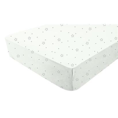 sabana-bajera-blanca-domiva-estampado-de-estrellas-grises-70x140-cm