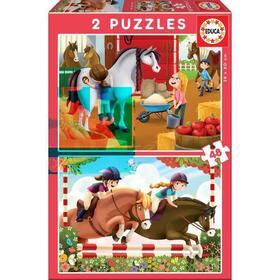 educa-caballos-puzzle-2x48-piezas