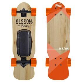olsson-skate-electrico-egeneration-malibu-junior-naranja-ruedas-70mm-motor-250w-mando-a-distancia-soporta-60kg