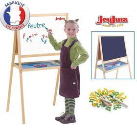jeujura-mesa-de-madera-creativa-de-doble-cara-tizas-marcadores