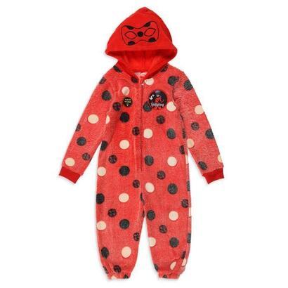 lady-bug-traje-de-nina-fosforescente-100-poliester-rojo-talla-8-ans
