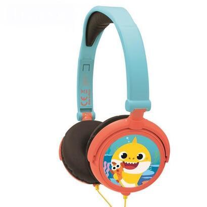 baby-shark-auriculares-estereo-con-cable-plegables-para-ninos-con-limitacion-de-volumen-de-escucha-lexibook