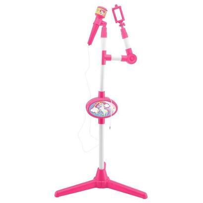 microfono-unicornio-con-soporte-de-luz-y-altavoz