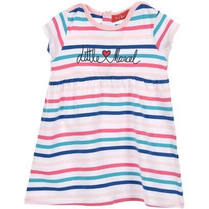 little-marcel-conjunto-de-vestido-y-diadema-para-nina-95-algodon-5-elastano-blanco-talla-6-mois