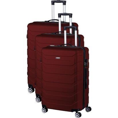 manoukian-juego-de-3-maletas-trolley-vanity-abs-4-ruedas-75-burdeos