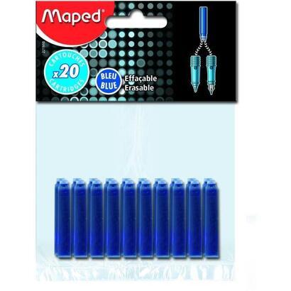 maped-20-cartuchos-de-tinta-estandar-azul