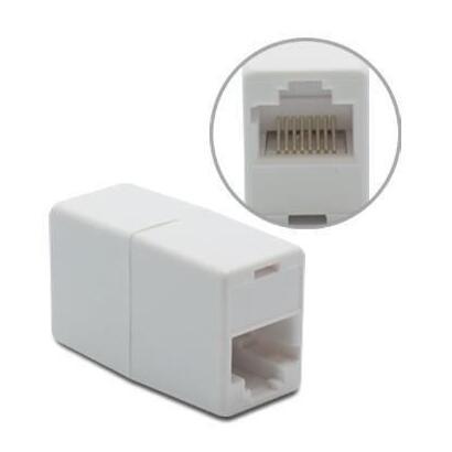 metronic-495238-conector-ethernet-rj45-hembra-recto-blanco