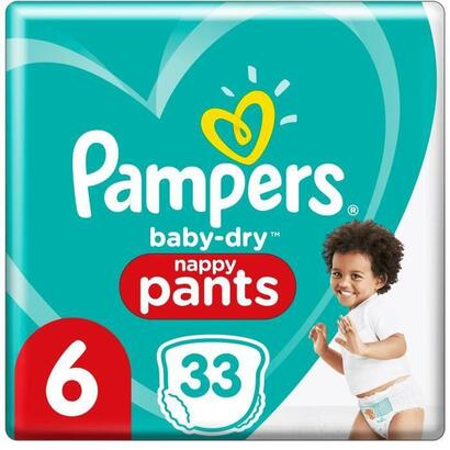 pampers-baby-dry-pants-panales-talla-6-33-bragas
