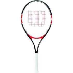 raqueta-de-tenis-wilson-federer-25-junior-negro-y-rojo