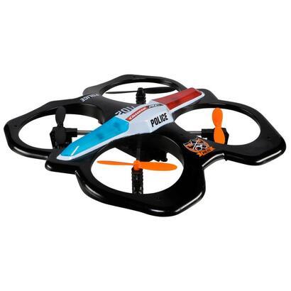 rc-quadrocopter-police-drohne-schwarzweiss