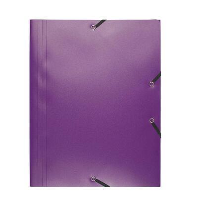 exaclair-carpeta-de-gomas-pp-opaco-a4-malva-3-solapas-hasta-150-hojas-de-80-gr-24x32-cm