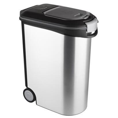 curver-recipiente-de-comida-seca-20kg-aspecto-de-metal-gris