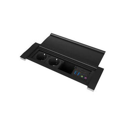 icy-box-ib-ts401-4-4-port-desk-socket-and-usb-hub