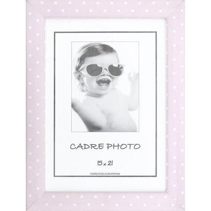 kid-portafotos-rosa-y-blanco-con-lunares-15x21-cm