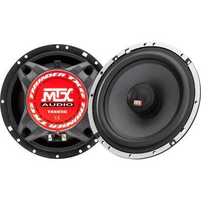 mtx-tx665c-165cm-altavoces-coaxiales-de-2-vias-90w-rms-4o-chasis-de-aluminio-tweeter-de-neodimio-bobina-de-domo-de-seda-tsv-til