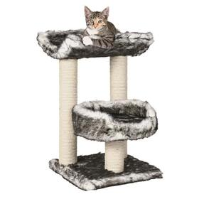 trixie-isaba-cat-tree-altura-62-cm-felpa-blanco-y-negro-y-sisal-natural