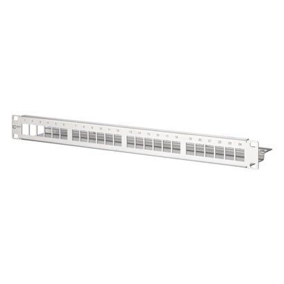 metz-connect-keystone-modultrager-19-24-port-1he-edelstahl-leer-geschirmt