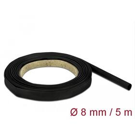 delock-tubo-termorretractil-5-m-x-8-mm-negro