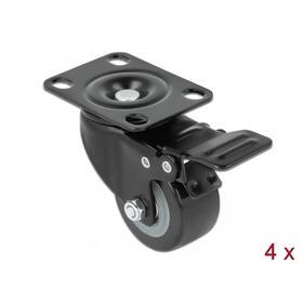 rueda-giratoria-con-freno-delock-para-armario-de-red-4-piezas