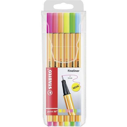 estuche-de-6-rotuladores-stabilo-point-88-colores-neon-punta-04mm