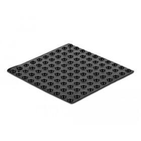 delock-pies-de-goma-redondos-autoadhesivos-5-x-2-mm-100-piezas-negro