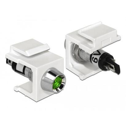 delock-86448-led-keystone-verde-de-6-v-blanco