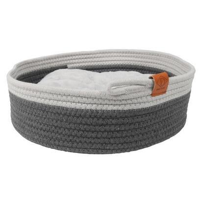 cesta-para-gatos-ebi-tailor-35-x-35-x-115-cm-gris-y-blanco