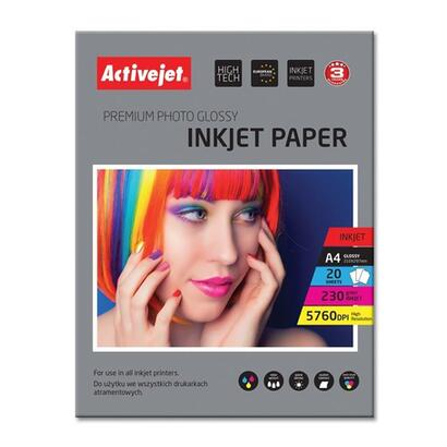 papel-fotografico-activejet-a4-glossy-20-pcs-230g-ap4-230g20