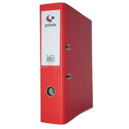grafoplas-archivador-con-palanca-de-45mm-din-a4-carton-de-25-mm-grafcolor-rojo
